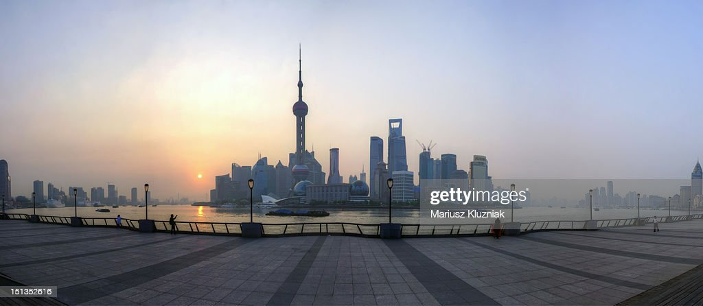 Shanghai sunrise : Stock Photo