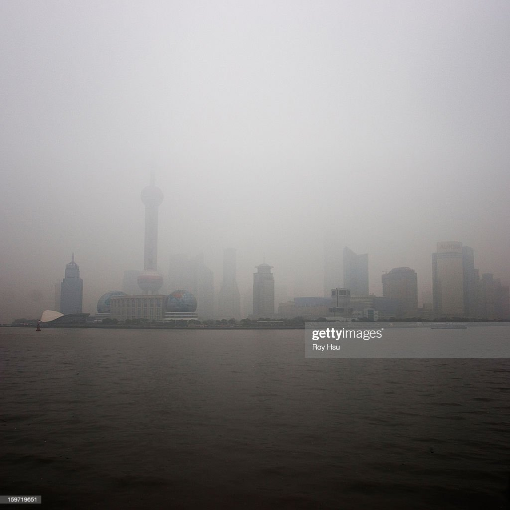 Shanghai Tower from the Bund : Stock Photo