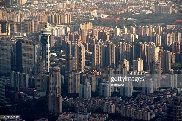 Shanghai urban sprawl, viewed from Shanghai Tower observation deck