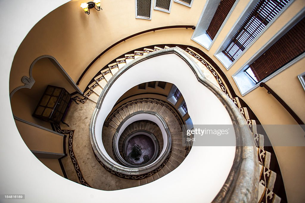 #Shanghaimage Time ladder to the old Shanghai : Stock Photo