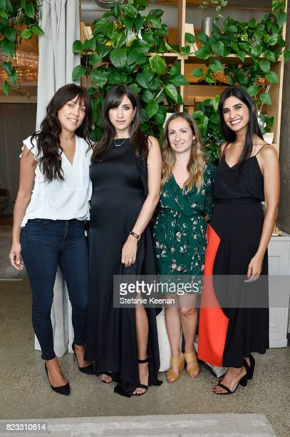 Shani Darden Mandana Dayani Ariel Kay and Shilpa Shah at Cuyana Essential Women Event on July 26 2017 in West Hollywood California