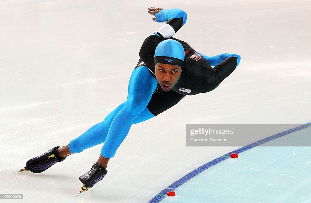 Shani Davis of the United States competes in the men's speed skating 1500 m final on day 9 of the Vancouver 2010 Winter Olympics at Richmond Olympic...
