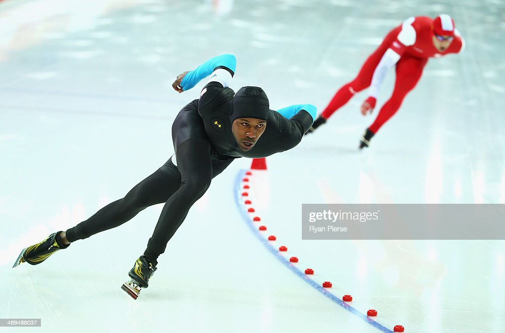 Shani Davis of United States competes in the Speed Skating Men's 1500m on day eight of the Sochi 2014 Winter Olympics at Adler Arena Skating Center on February 15, 2014 in Sochi, Russia.