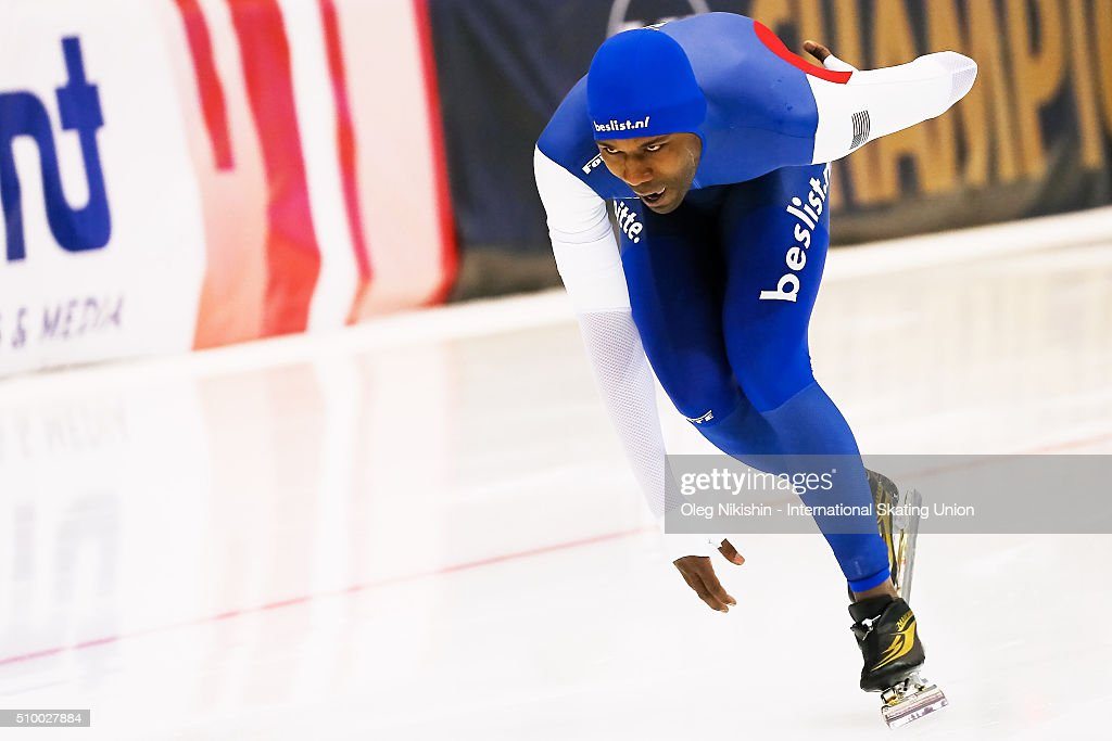 <a gi-track='captionPersonalityLinkClicked' href=/galleries/search?phrase=Shani+Davis&family=editorial&specificpeople=225183 ng-click='$event.stopPropagation()'>Shani Davis</a> of USA competes in the Men 1500 meters race during day 3 of the ISU World Single Distances Speed Skating Championships held at Speed Skating Centre Kolomna Ice Arena on February 13, 2016 in Kolomna, Russia.