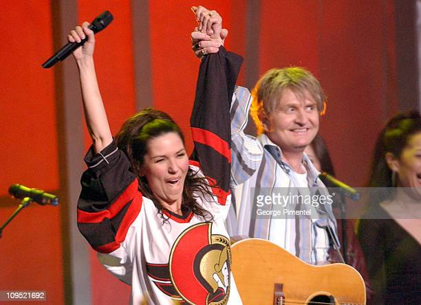Shania Twain and Tom Cochrane during 2003 Juno Awards Show at Corel Centre in Ottawa Ontario Canada