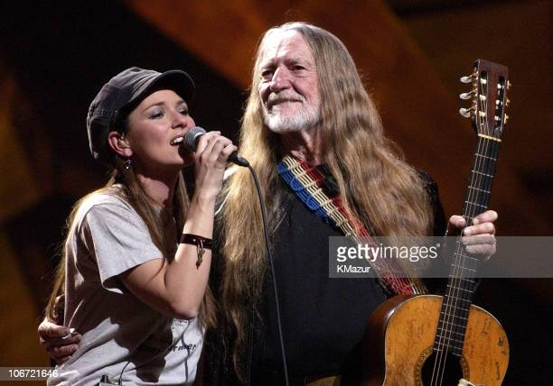 Shania Twain and Willie Nelson during 'Willie Nelson and Friends Live and Kickin'' Premieres on USA Network May 26 2003 Show at Beacon Theatre in New...