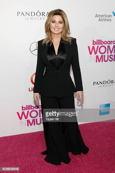 Shania Twain attends the 2016 Billboard Women in Music Awards at Pier 36 on December 9 2016 in New York City