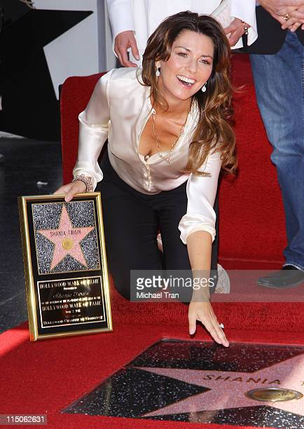 Shania Twain attends the ceremony honoring her with a Star on the Hollywood Walk of Fame held on June 2 2011 in Hollywood California