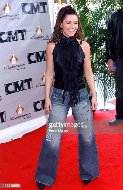 Shania Twain during 2003 CMT Flameworthy Awards Arrivals at The Gaylord Center in Nashville Tennessee United States