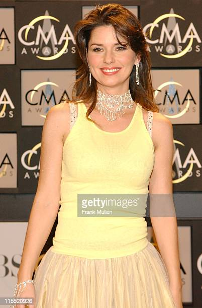 Shania Twain during 38th Annual Country Music Awards Press Room at Grand Ole Opry House in Nashville Tennessee United States