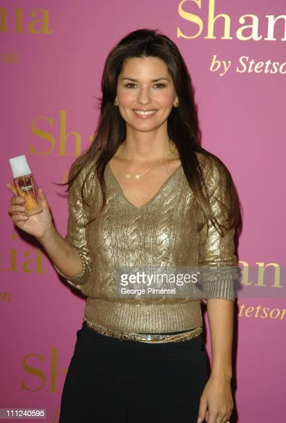 Shania Twain during Shania Twain Photocall To Promote 'Shania by Stetson' Perfume at Four Seassons in Toronto Ontario Canada