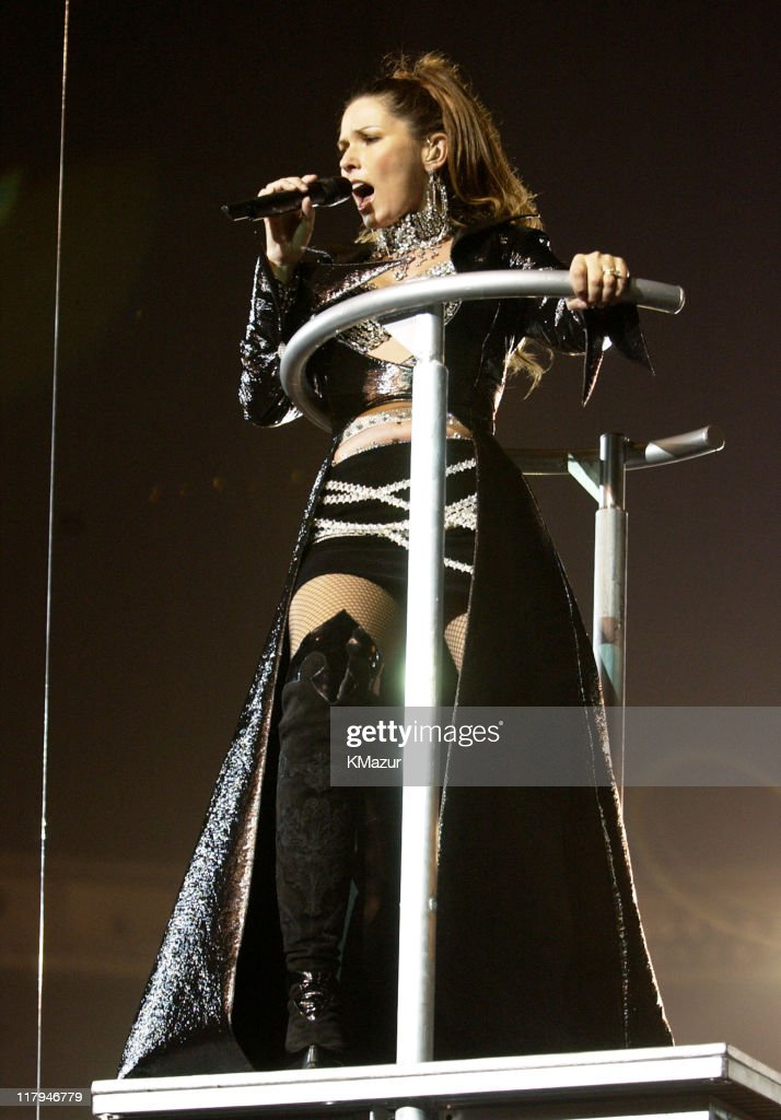 <a gi-track='captionPersonalityLinkClicked' href=/galleries/search?phrase=Shania+Twain&family=editorial&specificpeople=203173 ng-click='$event.stopPropagation()'>Shania Twain</a> during Super Bowl XXXVII - AT&T Wireless Super Bowl XXXVII Halftime Show - Rehearsal at Qualcomm Stadium in San Diego, California, United States.