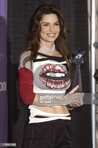 Shania Twain during The 2003 Billboard Music Awards Press Room at MGM Grand Garden Arena in Las Vegas Nevada United States