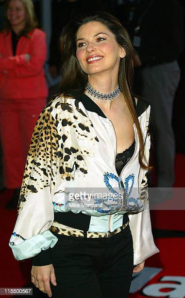 Shania Twain during The 2004 Brit Awards Arrivals at Earls Court in London Great Britain