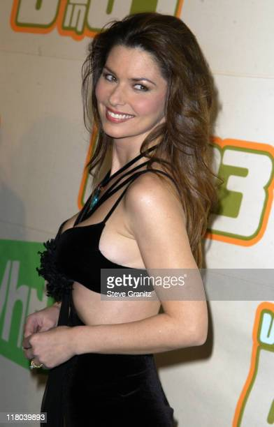 Shania Twain during VH1 Big In '03 Arrivals at Universal Amphitheater in Universal City California United States