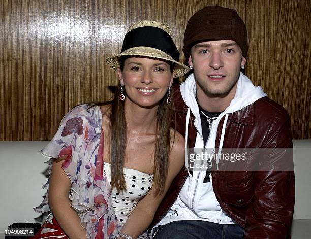 Shania Twain Justin Timberlake during Teen People Honors Nelly at Ivar in Hollywood California United States