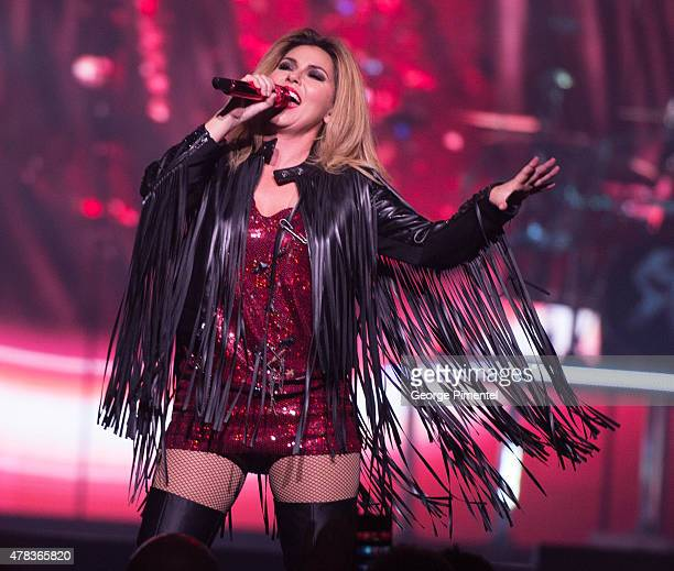 Shania Twain performs in Concert for her 'Rock This Country' Tour at Air Canada Centre on June 24 2015 in Toronto Canada