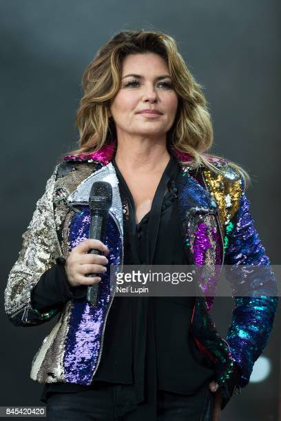 Shania Twain performs live on stage during BBC Radio 2 Live at Hyde Park on September 10 in London ENGLAND