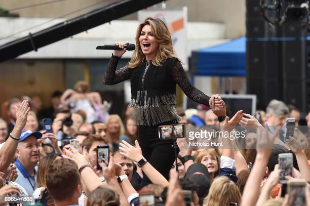 Shania Twain performs on NBC's 'Today' at Rockefeller Center on June 16 2017 in New York City