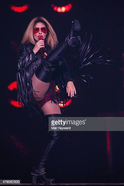 Shania Twain performs on stage during the opening night of her final tour at KeyArena on June 5 2015 in Seattle Washington
