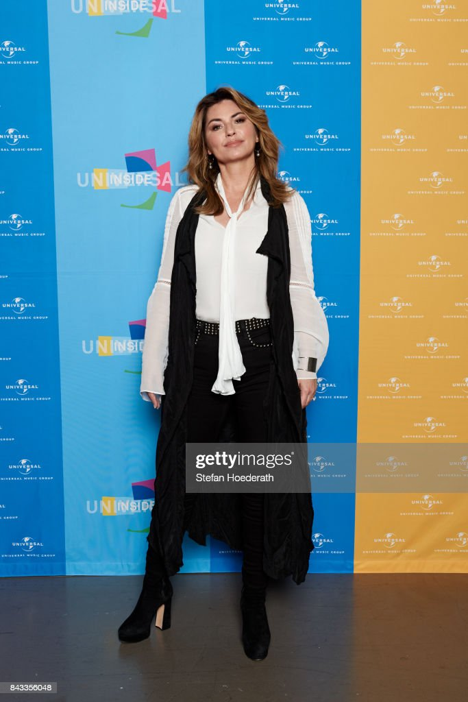 Shania Twain poses for a photo during Universal Inside 2017 organized by Universal Music Group at Mercedes-Benz Arena on September 6, 2017 in Berlin, Germany.