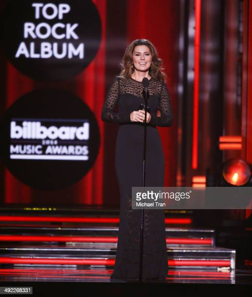 Shania Twain speaks onstage during the 2014 Billboard Music Awards held at MGM Grand Garden Arena on May 18 2014 in Las Vegas Nevada