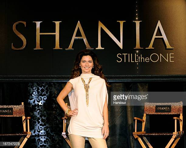 Shania Twain talks about preparing for opening night in Las Vegas during a press conference November 30 2012 in Las Vegas Nevada One of the world's...