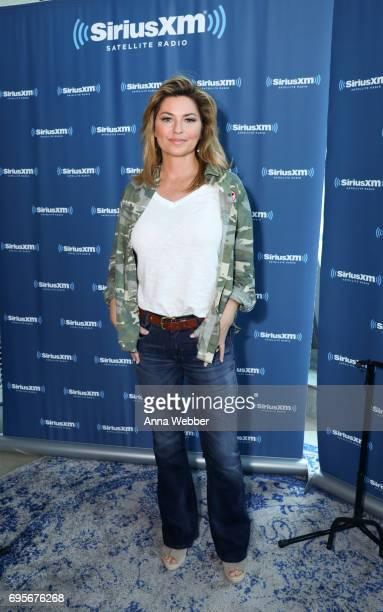 Shania Twain Visits The SiriusXM Studios In Nashville on June 13 2017 in Nashville Tennessee