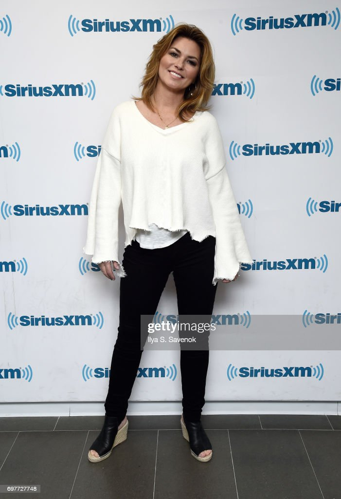 Shania Twain visits the SiriusXM Studios on June 19, 2017 in New York City.