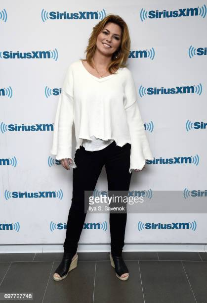 Shania Twain visits the SiriusXM Studios on June 19 2017 in New York City