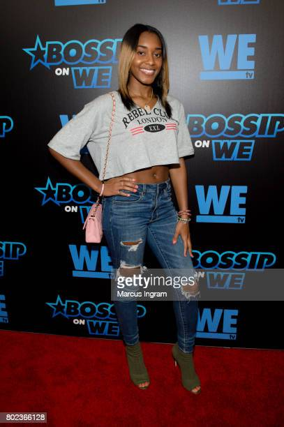 Shaniah Mauldin attends 'Bossip On WE' Atlanta launch celebration at Elevate at W Atlanta Midtown on June 27 2017 in Atlanta Georgia