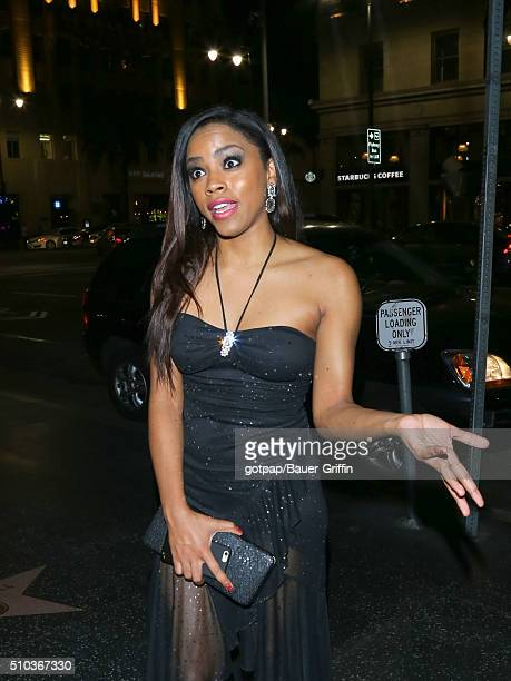 Shanica Knowles is seen on February 14 2016 in Los Angeles California