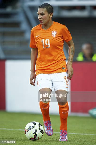 Shanice van de Sanden of Holland during the International friendly match prior to the FIFA Women's World Cup Canada 2015 between Netherlands women...