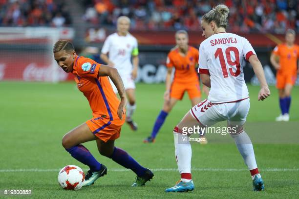 Shanice van de Sanden of Holland Women Cecilie Sandvej of Denmark women during the UEFA WEURO 2017 Group A group stage match between The Netherlands...