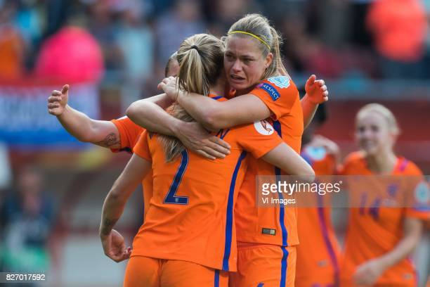 Shanice van de Sanden of Holland Women Desiree van Lunteren of Holland Women Anouk Dekker of Holland Women during the UEFA WEURO 2017 final match...