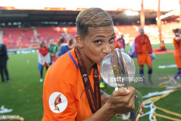 Shanice van de Sanden of Holland Women during the UEFA WEURO 2017 final match between The Netherlands and Denmark at the Grolsch Veste on August 06...