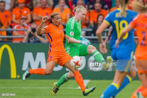 Shanice van de Sanden of Holland Women goalkeeper Hedvig Lindahl of Sweden women during the UEFA WEURO 2017 quarter finale match between The...