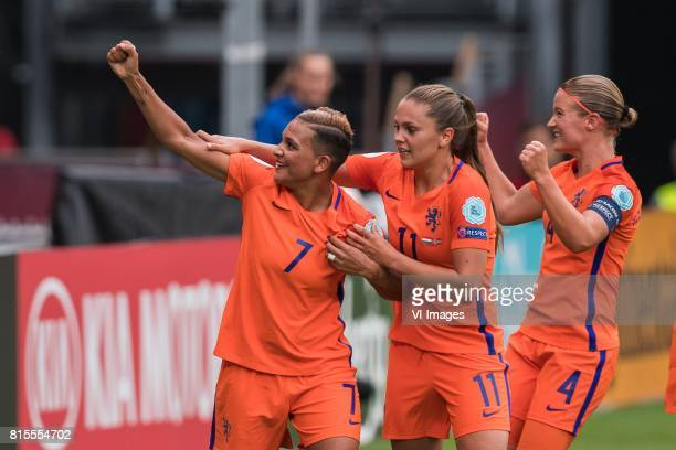 Shanice van de Sanden of Holland Women Lieke Martens of Holland Women Mandy van den Berg of Holland Women during the UEFA WEURO 2017 Group A group...