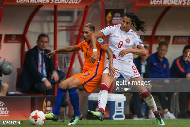 Shanice van de Sanden of Holland Women Nadia Nadim of Denmark women during the UEFA WEURO 2017 final match between The Netherlands and Denmark at the...