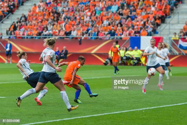 Shanice van de Sanden of Holland Women scores during the UEFA WEURO 2017 Group A group stage match between The Netherlands and Norway at the...