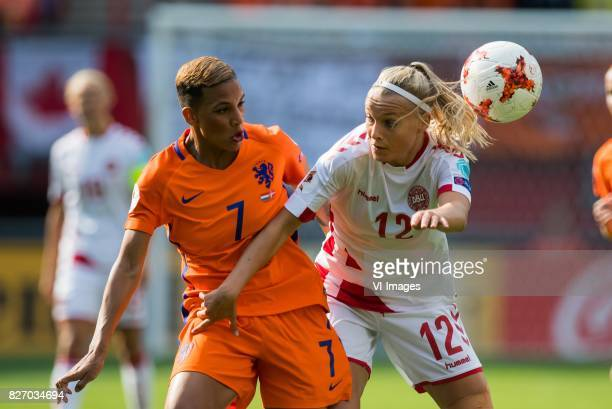 Shanice van de Sanden of Holland Women Stine Larsen of Denmark women during the UEFA WEURO 2017 final match between The Netherlands and Denmark at...