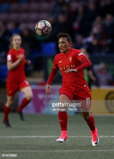Shanice van de Sanden of Liverpool Ladies during the WSL 1 match between Liverpool Ladies and Reading FC Women at Select Security Stadium on April 28...