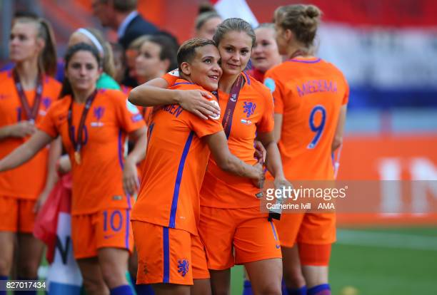 Shanice Van de Sanden of Netherlands Women and Lieke Martens of Netherlands Women after the UEFA Women's Euro 2017 final match between Denmark and...