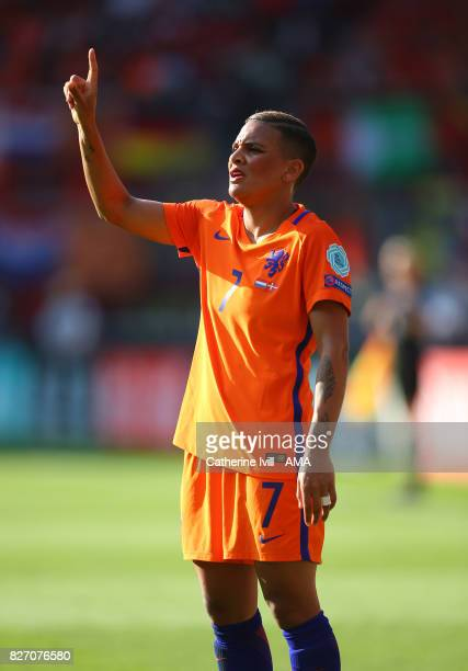 Shanice Van de Sanden of Netherlands Women during the UEFA Women's Euro 2017 final match between Denmark and Netherlands at De Grolsch Veste Stadium...
