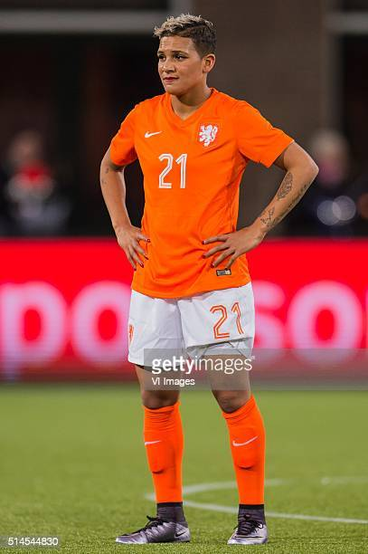 Shanice van de Sanden of the Netherlands during the 2016 UEFA Women's Olympic Qualifying Tournament match between Netherlands and Sweden on March 9...