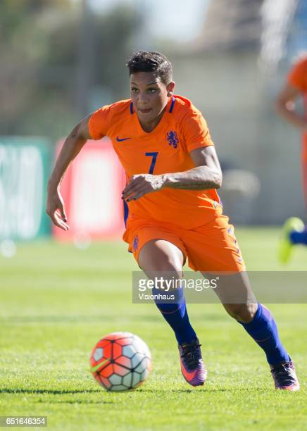 Shanice Van De Sanden of The Netherlands during the Fifth Place 2017 Algarve Cup match between Japan and The Netherlands at the Estadio Algarve on...