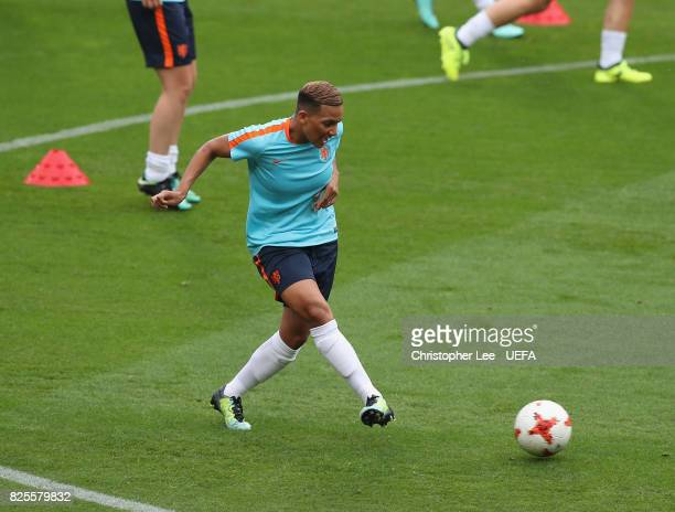 Shanice van de Sanden of the Netherlands during the Netherlands Training Session at FC Twente Stadion on August 2 2017 in Enschede Netherlands