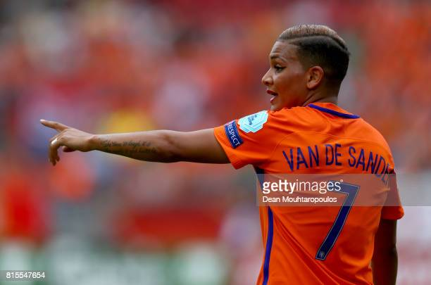 Shanice van de Sanden of the Netherlands gestures during the Group A match between Netherlands and Norway during the UEFA Women's Euro 2017 at...
