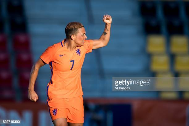 Shanice van de Sanden of the Netherlandsduring the friendly match between the women of The Netherlands and Austria at at The Adelaarshorst on on June...