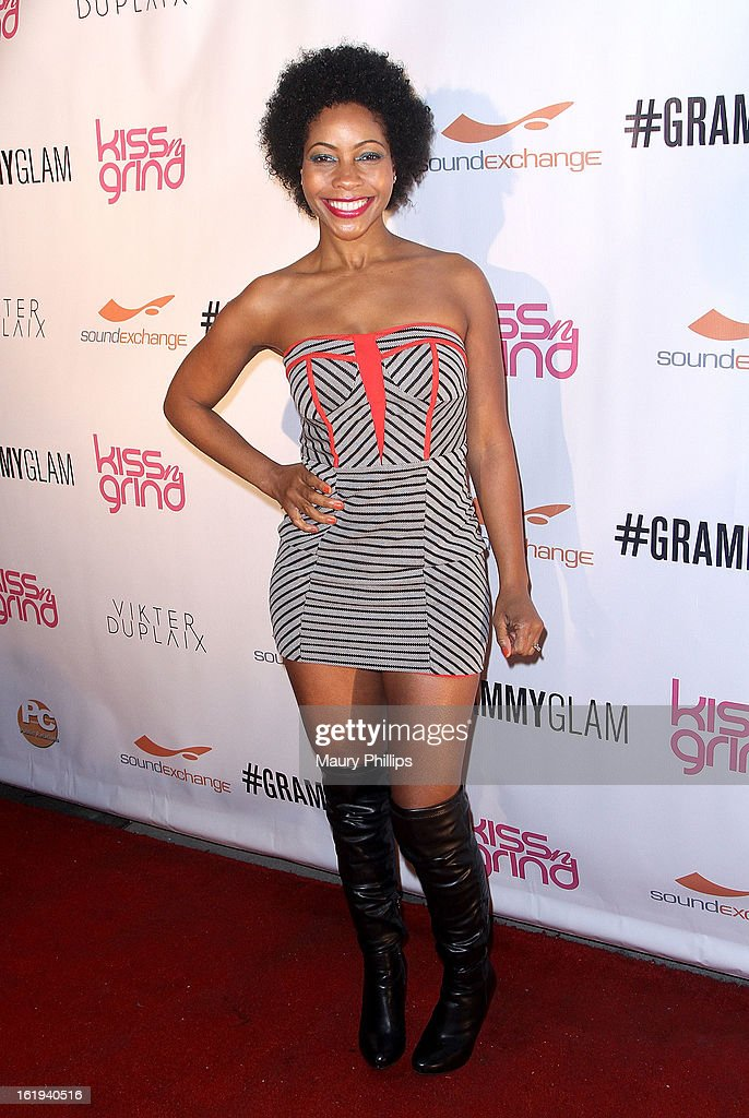 Shanidah Omar attends The 6th Annual Kiss-N-Grind GRAMMY Edition hosted by Common with Vikter Duplaix and music producer The Twilite Tone at Arena Nightclub on February 8, 2013 in Hollywood, California.
